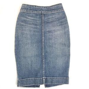 Artizia Wilfred Free Medium Wash Denim Skirt